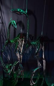 These Ornithomimuses can be operated by using an old Xbox controller.