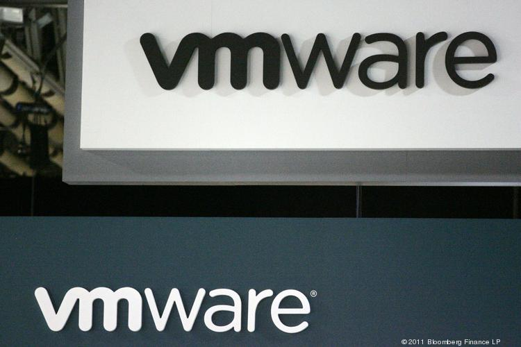 VMware Inc. signage is displayed at the EMC World conference in Las Vegas, Nevada, U.S., on Tuesday, May 10, 2011.