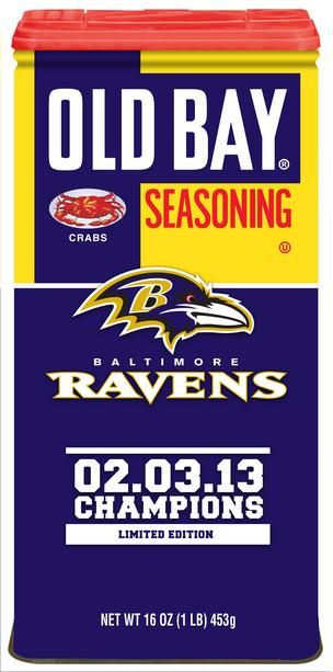 Old Bay has unveiled a limited edition can celebrating the Ravens' Super Bowl victory.