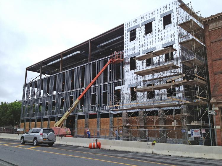 "Construction is on schedule at 2431 Sixth Ave., in Troy, NY. Unity House calls the project ""The Front Door""."