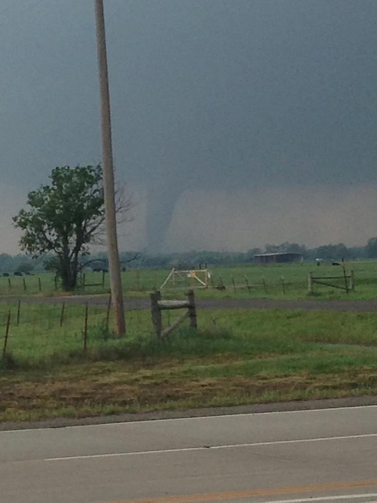 Wichita Business Journal employee Gary Nickel received this photo from his son, Justin Nickel, who was in the Moore, Okla., area Monday afternoon.