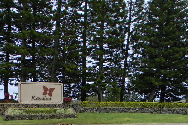 The entrance to Maui Land & Pineapple's Kapalua Resort.