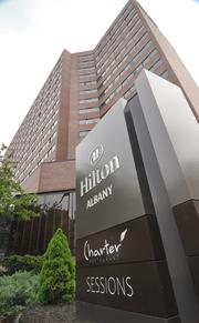 The newly-renovated Hilton Albany at State and Lodge streets downtown
