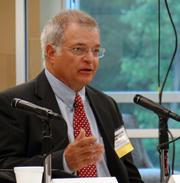 Davidson County Schools Superintendent Fred Mock, one of the panelists at the State of Davidson discussion.