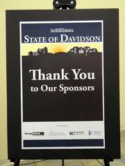 The State of Davidson discussion was sponsored by EnergyUnited, Hospice of Davidson County, Novant Health Thomasville Medical Center and UNCG's Bryan School of Business and Economics.