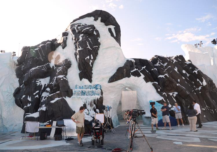 A first-hand arctic experience awaits guests inside Empire of the Penguin at SeaWorld's Antarctica.