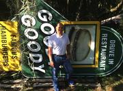 Richard Gonzmart with the Goody Goody sign, which he now owns.