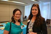 Nicole Ingersoll, left, of Curran & Connors and Marianne Wilson of Newmark Grubb Knight Frank.