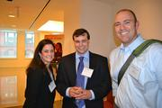 From left, Jen Schaeffer of Client Hospitality, Michael Newman and Jed Gray of Sports Glutton.