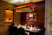 The executive chef's table is available for private parties and features a chef-selected customized menu and wine pairing.