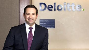 AT THE TOP: Jason W. Downing began in Deloitte's audit practice and has led major financial transformation initiatives.