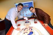 Travis Miller and Jimmy Vee play the Anatomy Challenge game, a life-size operation without all the dull sterilization procedures.