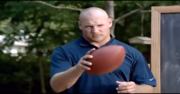 Scene from Brian Urlacher's commercial for Xfinity.