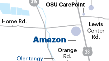 The Orange Township site is the third one proposed in Central Ohio for Amazon's data center expansion.