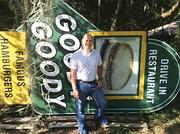 Owner Richard Gonzmart stands in front of the original Goody Goody sign after acquiring the brand in 2014.