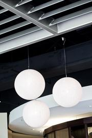 Lanterns hang from the ceiling inside OZ.