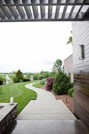 A path leading to the Sculpture Garden.