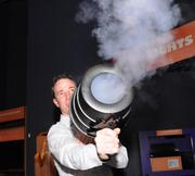 John Parkinson fires a fog cannon. You don't have to worry about putting your eye out with one of these.