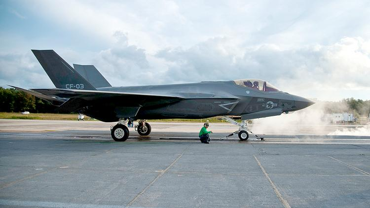 On June 23, an engine failure destroyed an Air Force F-35A model at Eglin Air Force Base in Florida.
