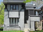 The front stairs and landing will be rebuilt to replicate the house's original appearance.