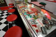 Ken Roberts Rock and Roll cafe is filled with nostalgia from the 50's and 60's