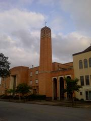 The orange brick portion of the structure was built as a fall-out shelter for the Heights in the early 1950s and named for its pastor, T.C. Jester.