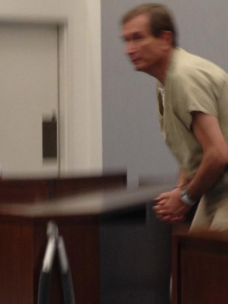 Shackled and weary, Shaun Hayes appears in court - St  Louis