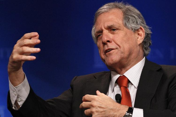 CBS Corp. CEO and highest paid U.S. CEO, Leslie Moonves.