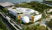 Renderings of the new Miami Museum of Science and Planetarium, which will now be called the Patricia And Phillip Frost Museum of Science.