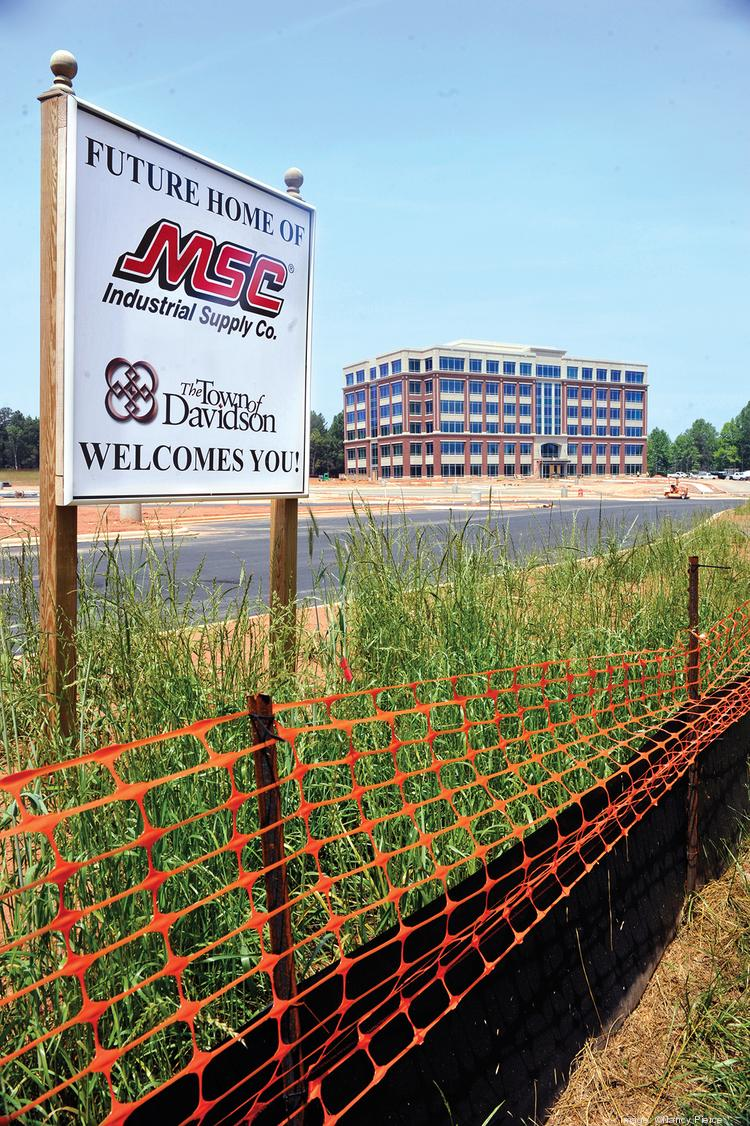 MSC Industrial Supply expects to open its new co-headquarters building in Davidson in August.