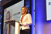 Research Triangle Regional Partnership's Lee Ann Nance gets things started.