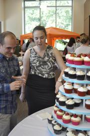 The crowd enjoyed cupcakes by Chapel Hill bakery Sugarland.