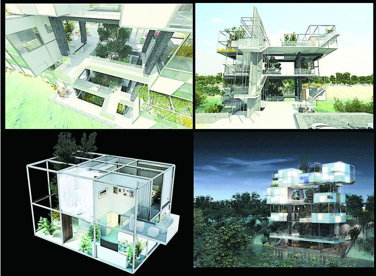 Architect Ahmed Hamdi, principal of Ahmed Hamdi Architects in Cairo, Egypt, earned honorable mention in the international Micro Housing Ideas Competition in Denver for his design that included a skeleton frame structure into which steel pods — built offsite — could be inserted for living units depicted in this rendering.