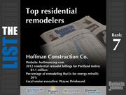 7: Hoffman Construction Co.