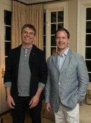 """Five of the Washington area's top interior designers supported the Smithsonian Craft Show, April 24-28, by hosting five """"Dinners by Design"""" on April 27. Shown here are artist Eric Serritella and interior designer Andrew Law."""