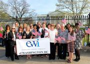 Executive Women International is celebrating its 75th anniversary this year. The D.C. chapter offered a champagne toast in front of the White House.