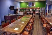 Walmart Labs retained the break room tables built for Small Society when it moved to the Centennial building.