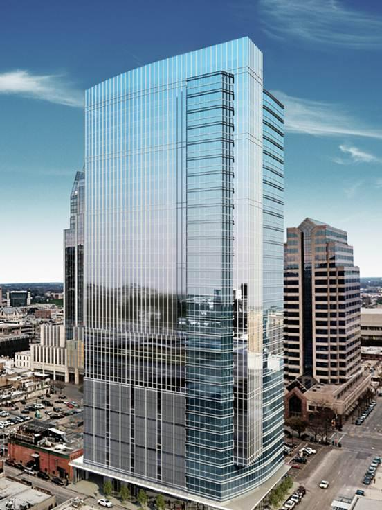 Colorado Tower is under construction at Third and Colorado Streets in downtown Austin.
