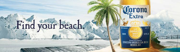 """Cramer Krasselt expanded on the Corona beach-themed advertising to create the """"Find Your Beach"""" campaign."""