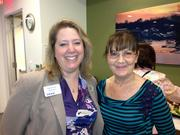 Heather Rosen of FranNet and Pauline Leitch of the Women's Business Center participate in the Capital Area Franchise Fair.