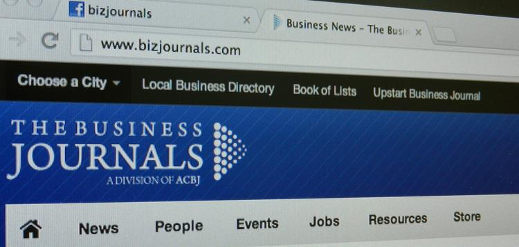 National site of The Business Journals featuring new navigation.