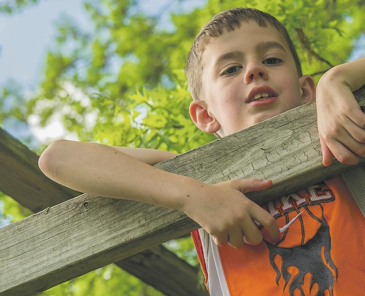 Eight-year-old Ryan Allred has a rare muscular disease called nemaline myopathy, which was discovered through genetic testing at Children's Mercy Hospitals and Clinics in Kansas City.