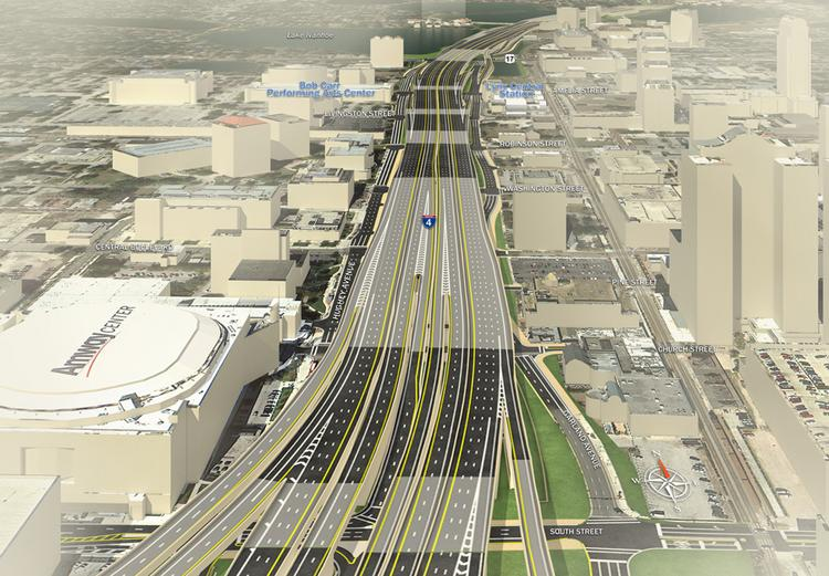 A look at the I-4 Ultimate project in downtown Orlando.