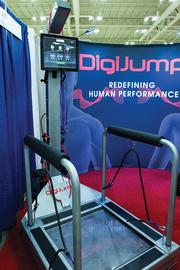 Digijump Floyds Knobs-based Scott & Wilkins Enterprises LLC developed and patented several components of a jump rope simulator, called DigiJump, which monitors heart rate, foot speed, resistance and other biometrics. The company is targeting professional and Division I college athletic teams with the product. DigiJump's starting price will be $15,000. (Click here to read more.)  DigiJump is a jump rope simulatory that was launched by a Southern Indiana company this year.