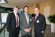 Marshall Ussery, left to right, with Tim Shelly and Greg Eli at Nashville Business Journal's Health Care Heroes luncheon.