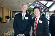 Rick Seadler and Caleb Graves at the Nashville Business Journal's Health Care Heroes luncheon.