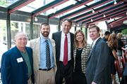 Phil Hertik, left to right, Jonathan Barnes, Jim Anderson, Judy Price and Rob Harvey at Nashville Business Journal's Health Care Heroes luncheon.