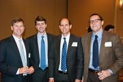 Jonathan Skeeters, Scott Lenz, Kevin Campbell and David Stempel at Nashville Business Journal's Health Care Heroes luncheon.