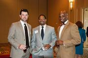 Brian McGimsey, left to right, James Horton and Nicholas Harrison at the Nashville Business Journal's Health Care Heroes luncheon.