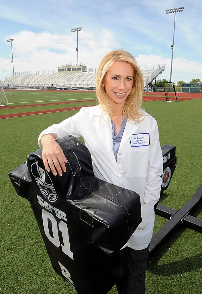 Catherine Broomand has made it her mission to educate people about the dangers of concussions in student athletes.